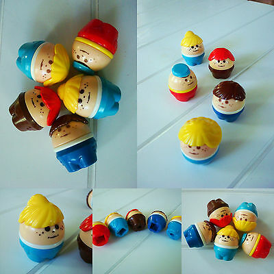 5pcs! Little Tikes tykes vintage WEEBLES people lot girl boy toddle tots figures