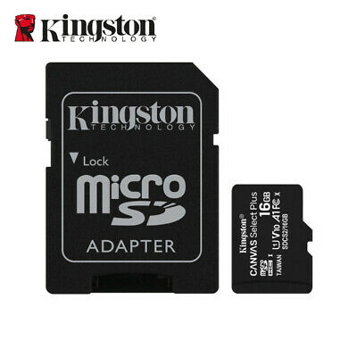 Kingston 16GB micro SD SDHC Class10  UHS-I Memory Card TF R 80MB /s with Adapter
