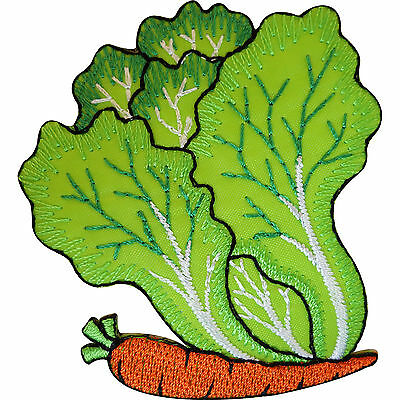 Embroidered Iron On Vegetable Patch Carrot Lettuce Sew On Badge Cloth Embroidery
