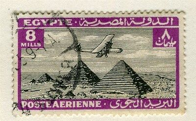 EGYPT;  1933 AIR issue Handley Page & Pyramids fine used 8m. value