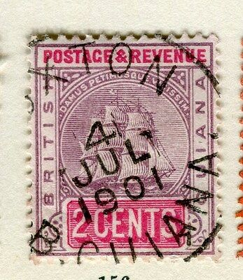 BRITISH GUIANA;  1900-03 early issue fine used 2c. value