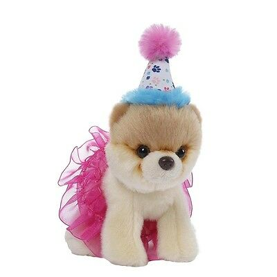 GUND PLUSH Puppy Dog Itty Bitty Boo #027 Birthday Tutu LIST PRICE £12.00