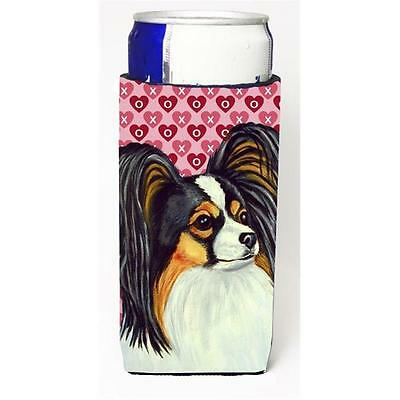 Papillon Hearts Love and Valentines Day Portrait Michelob Ultra bottle sleeve...