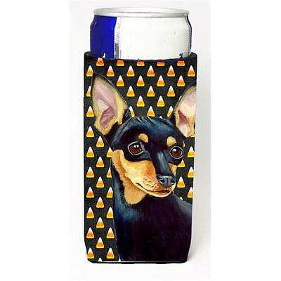 Min Pin Candy Corn Halloween Portrait Michelob Ultra bottle sleeves For Slim ...