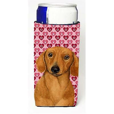 Dachshund Hearts Love And Valentines Day Portrait Michelob Ultra s For Slim C...
