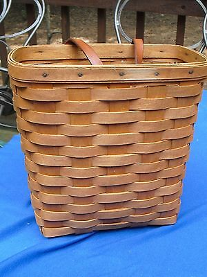 """9-1/2""""  LONGABERGER WALL MAIL BASKET~One Leather Handle~1994"""