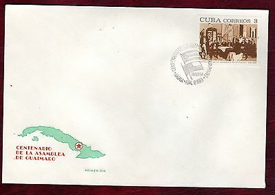 CARIBBEAN STAMPS- Centenary of Guaimaro assembly, FDC, 1969