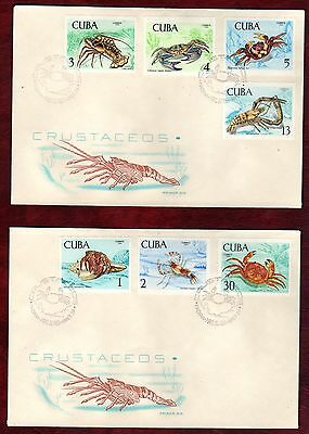 CARIBBEAN STAMPS- Crabs, set on FDC, 1969