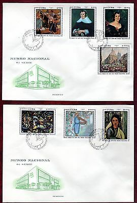 CARIBBEAN STAMPS- Paintings from National Museum 3rd series, 2x FDC, 1970
