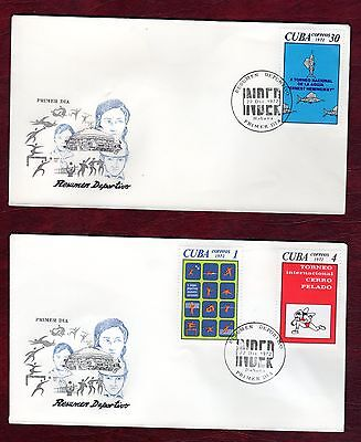 CARIBBEAN STAMPS- Sport events, 4x  FDC, 1972