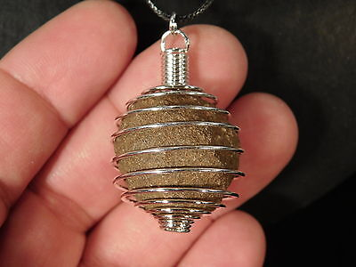 A Neat and 100% Natural MOQUI MARBLE made into a Pendant! from Utah 8.92 e