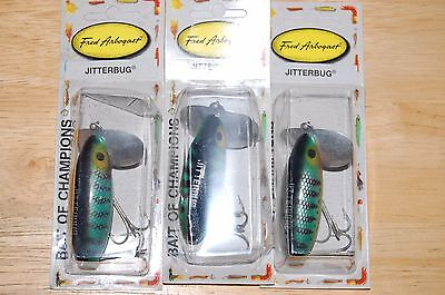 old package arbogast jitterbug 5//8oz bass topwater fishing lure coach dog