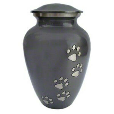 Classic Paw Print Slate Pet Cremation Memorial Urn for Dog Cat and Pets