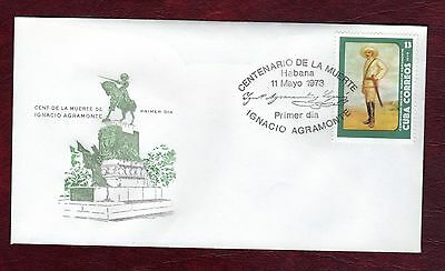CARIBBEAN STAMPS- Death centenary of Gen.Agramonte, FDC, 1973