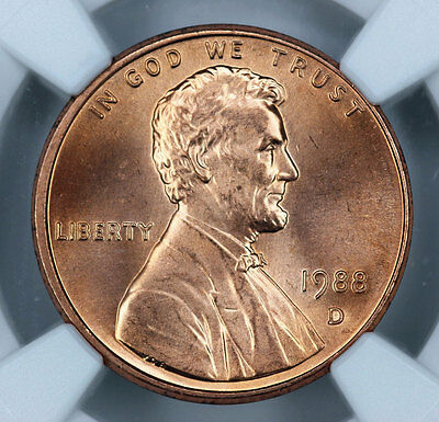 1988-D NGC MS66RD Lincoln Cent