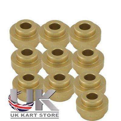 Pack of 10 Big Bumper Bush Gold For 32mm Chassis CLEARANCE ITEM GREAT VALUE
