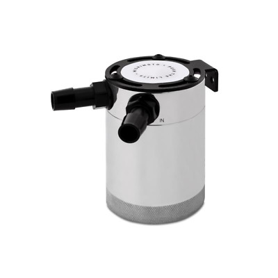 Mishimoto Compact Baffled Oil Catch Can - 2 Port - Polished