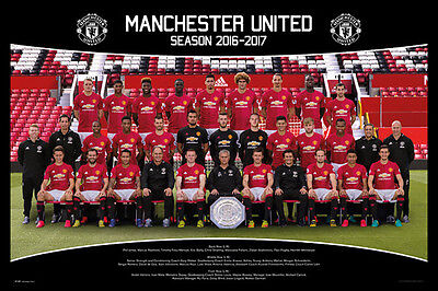 Manchester United Team Squad 2016 - 2017 Official Poster Maxi Size 36 x 24 Inch