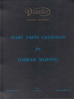 Daimler Majestic Df 316/7 & Df 318/9 1958-62 Orig. Factory Spare Parts Catalogue