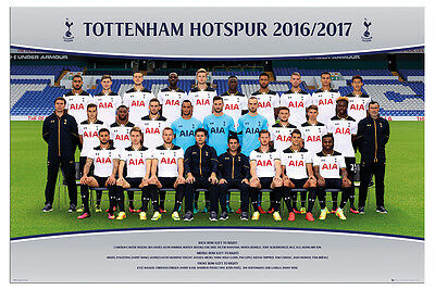 Tottenham Hotspur Team Squad 2016 - 2017 Official Poster Maxi Size 36 x 24 Inch
