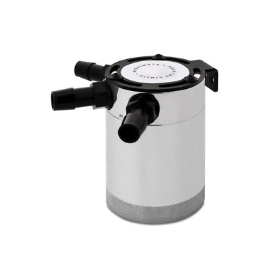 Mishimoto Compact Baffled Oil Catch Can - 3 Port - Polished