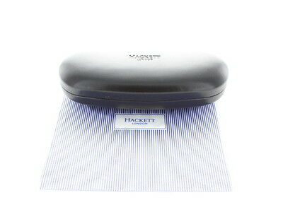 NEW - Hackett London Spectacle Case with Striped Cleaning Cloth
