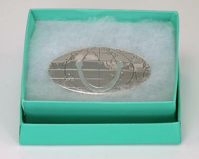 Vintage Tiffany & Co Sterling Silver 925 Globe/World  Bookmark/Money Clip