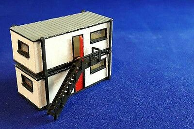 N Gauge Portable Builders/Construction Site Office Building Railway Model Kit