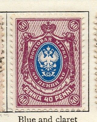 Finland 1901 Early Issue Fine Mint Hinged 40p. 105554