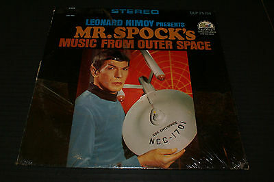 Leonard Nimoy Presents Mr. Spock's Music From Outer Space LP DLP 25794 Shrink