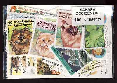 Sahara Occidental 100 timbres différents