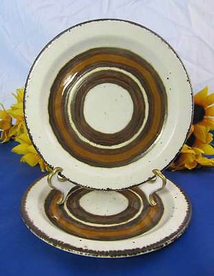 """MIDWINTER Stonehenge EARTH Bread & Butter Plates 7"""" Set Of 2"""