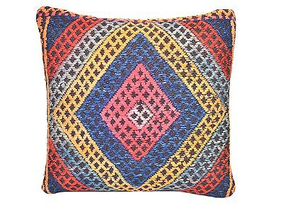 Vintage Hand-Woven Kilim Wool Pillow Cover k146