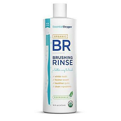 NEW Essential Oxygen Organic Brushing Rinse Mouthwash Whiter Teeth Healthy Gums
