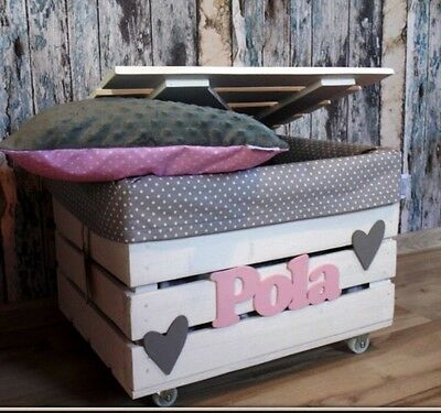 Girls/Boys wooden personalised toy box/storage box. Hand Made