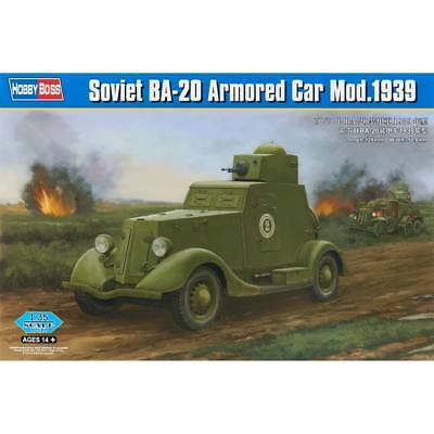 NEW Hobby Boss 1/35 Soviet BA-20 Armored Car 1939 HY83883