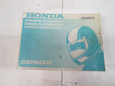 Honda Cbr600F Owners Manual Used 2000 00X37-Mbw-6200
