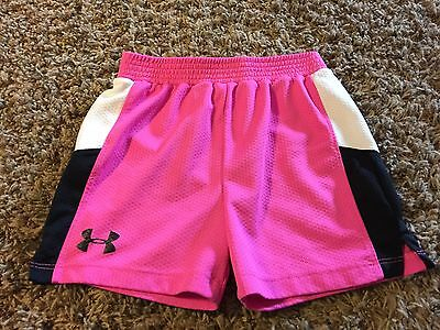 Girls Under Armour Pink Athletic Shorts Size 6