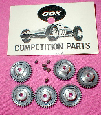 32 Tooth Spur Gears 6 in Factory Dealer Bags by COX Original Slot Car NOS Bulk
