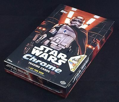2016 Topps Star Wars The Force Awakens Chrome Factory Sealed Hobby Box, 24 packs