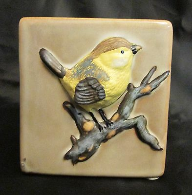 TII Collections Ceramic Chickadee Tea Light Candle Holder - New