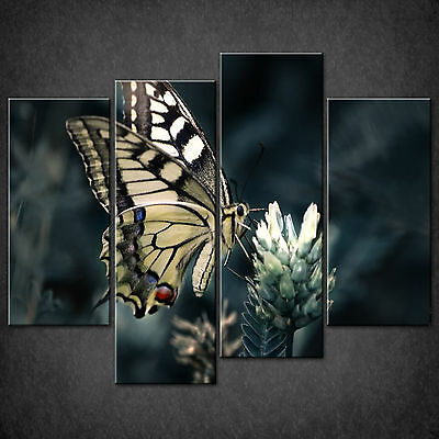 Yellow Butterfly Swallowtail Cascade Canvas Wall Art Print Picture Ready To Hang