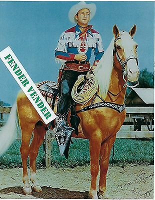 """Roy Rogers & Trigger Color 8"""" x 10"""" Photograph """"Happy Trails"""""""