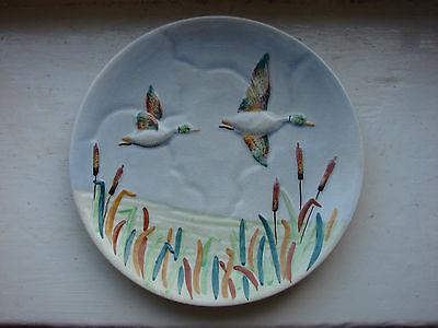 Shorter & Sons Staffordshire Hand Painted Wild Ducks Plate
