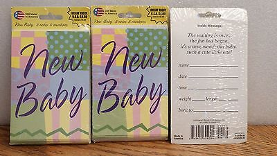 "24 ""A New Baby"" Birth Announcement Cards w/ Envelopes"