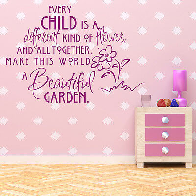 Every Child Is A Different Kind Quote Nursery Baby Wall Sticker