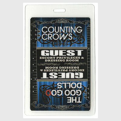 Counting Crows Guest 2008 Laminated Backstage Pass