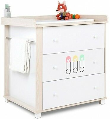 Infantastic Baby Changing Unit Nursery Chest Table with 3 Drawers and Spacious