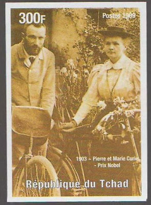 Pierre & Marie Curie Bicyle Discovery of Radium Nobel Prize Chemistry MNH