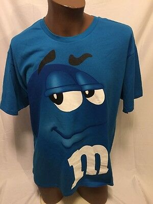 M&M's World Blue Guy T-Shirt Large New NWT
